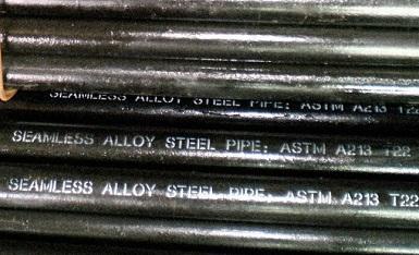 "ASTM A213 T22 tubes, 3""x4mm"