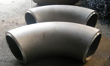 "Alloy 31 90° elbows L/R 16"" SCH120, ASTM B366 UNS N08031."