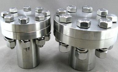 Hastelloy B3 flanged fittings with bolts and nuts