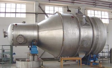 Hastelloy G-35 pressure vessel designed for an European client.
