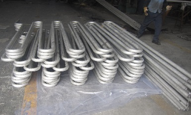 Incoloy 800HT serpentine coils for the heat exchanger.