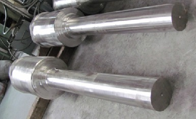 Monel K-500 shafts machined from ASTM B865 UNS N05500 bars.