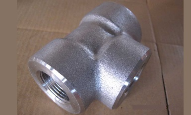 Forged tee 3000# NPT, ASTM A694 F52, Galv.