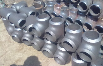 "Carbon steel straight tees, 4"" SCH160."