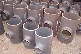 "ASTM B16.9 reducing tees, 10x6"" / 10x3"" SCH40, CS."
