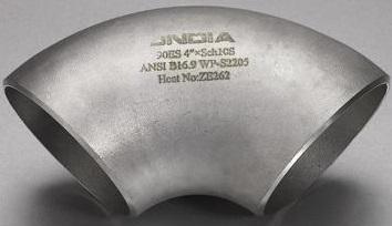 ASME B16.9 duplex ss 2205 S/R elbow