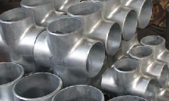 "Hot-dipped galvanized crossess, 4"" STD, A234 WPB."