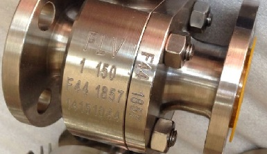 A floating ball valve with ASTM A182 F44 body