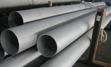 "ASTM A312 TP321 seamless pipes, 14"" XS PE."