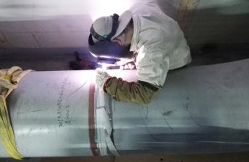 The welding of ASTM A335 P91 pipes in a power plant's main steam pipeline