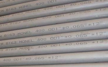 "ASTM B163 Monel 400 tubes 1""x0.065""x12ft."