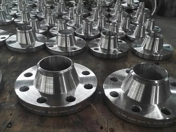 Alloy 20 weld neck flanges for an Indonesian client.