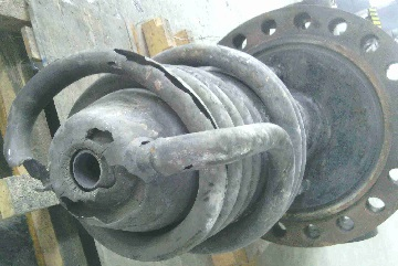 The failure of a Texaco gasifier burner made of Inconel 600.