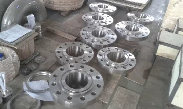 "Inconel 600 welding neck flanges, 8"" 900# RTJ."
