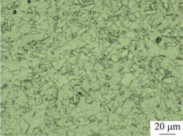 Microstructure of Inconel 600 specimen after solution treated at 950°C.