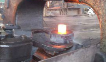 The preliminary forging of the billet.