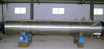 A dip tube made of Incoloy 825 plates manufactured to ASTM B704 Gr. N08825.