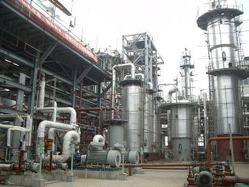 A newly constructed synthetic ammonia project in Mexico.