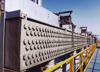 The air-cooled heat exchanger for an ethylene project in Indonesia.