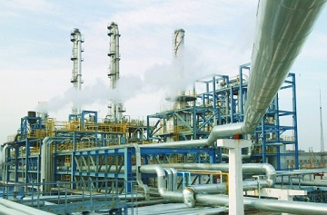 The ethylbenzene dehydrogenation system in a styrene project