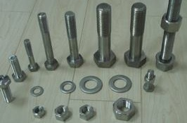 Hastelloy C-276 hex bolts with nuts and washer, ASME B574 Gr. N10276.