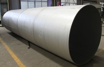 "The Incoloy 800H welded pipe 24"" STD, made to ASTM B514 UNS N08810."