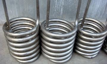 ASTM B338 titanium Gr.2 seamless tube coils.