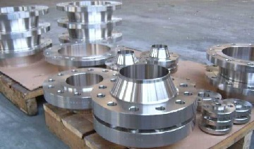 ASTM B381 titanium Gr. F-2 forged flanges, ASME B16.5.