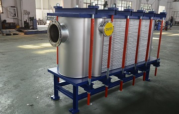A brazed plate heat exchanger with Hastelloy C-276 plates
