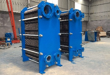 Standard plate heat exchangers with Hastelloy C-276 plates.