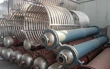 Titanium condenser coils made of ASTM B338 Gr.2.