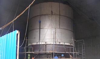 Titanium clad steel plates for FGD chimney.