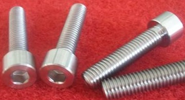 Titanium Gr.2 hex cap screws.