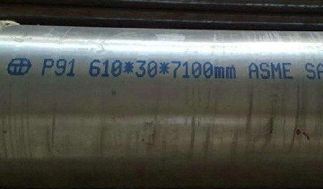 ASME SA-335 P91 SMLS pipe, 610 x 30 mm