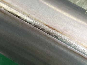 welding surface of Ti Gr.2 pipe