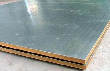 Titanium clad steel plates.